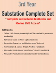 3rd Year Substation Complete Set